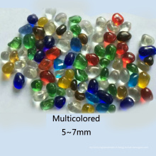 Perles en verre transparent coloré pour la décoration