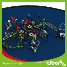 Lustige Gummimatte Bodenbelag Stroh Haus Park Spielplatz mit Swing und Outdoor Fitness