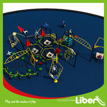 Funny Rubber Mat Flooring Straw House Park Playground with Swing and Outdoor Fitness