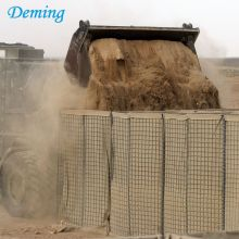Strong welded gabion barrier for military construction