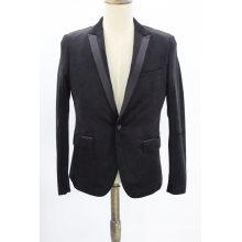 Men′s Velvet Blazer Slim Business Suit Jacket One Button Party Sport Coat