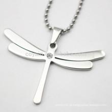 Kinder und Frauen 'Silber Metall Libelle Anhänger Halskette
