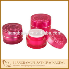 2015 Rose jar Cosmetic jar with three size and New acrylic cosmetic jar