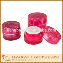 2015 Jarra de rosas Jarra de cosméticos com três tamanhos e novo frasco de acrílico cosméticos