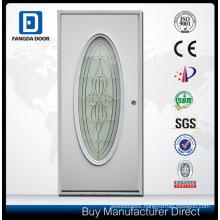 Emergency Break Safe Tempered Glass Steel Door