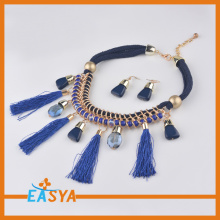 Brand Necklace Blue Pendant Jewelry Set