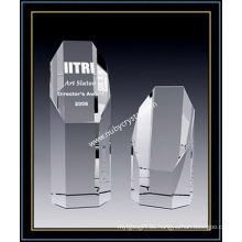 Octagon Crystal Empire Award 8 pulgadas de altura (NU-CW768)