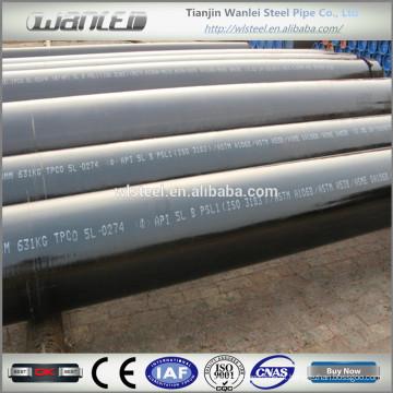 Aço preto tubos sem costura sch40 astm a106