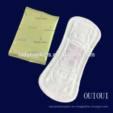 Desechables ultra thin thin anion ginseng herbal panty liner para mujeres