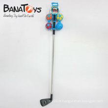 Troca de golfe interessante de golfe e bastão de golfe de bola