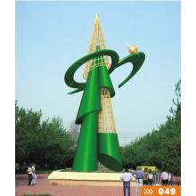 Große moderne Kunst Edelstahl Abstrakt Skulptur für Outdoor Dekoration