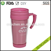 400ml promotional insulated double wall hard plastic cups with lid