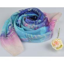 100% Silk Digital Print Shawl Fashion Silk Chiffon Shawl 10506001010-1