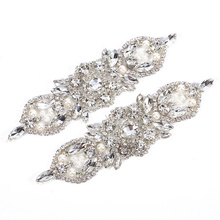 small crystal applique and embellished patches for decoration RH1036