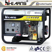 Air-Cooled Open Frame Type Diesel Generator Set (DG2500E)