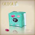 Almohadillas sanitarias de algodón orgánico OEM Custom marca para pieles sensibles con alas hechas en China