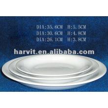 Sólido Blanco Puro Restaurante / Hotel / Homeware / Diario usado Platos y platos finos de porcelana
