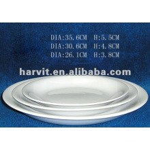 Solid Pure White Restaurant/Hotel/Homeware/Daily Used Round Fine Porcelain Dishes &Plates