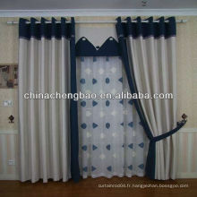Tissu de rideau de lin bon marché