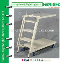 Складная складная и регулируемая лестница с колесами