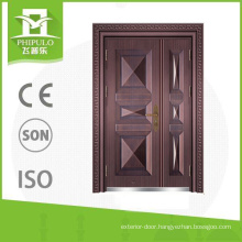 Son and mother copper door for exterior from Zhejiang
