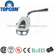 Führte geschüttelte Taschenlampe und Dynamo Fackel / 2 LED Dynamo Taschenlampe Fackel