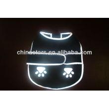EN471 / ANSI vêtements de chien réfléchissant noir avec logo personnalisé