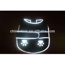 EN471 /ANSI black reflective dog clothes with customized logo