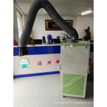 Extracteur mobile de vapeur de soudure avec un bras