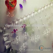 Cortina plástica elegante del grano de la nueva decoración casera elegante del hogar