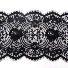 Chantilly thick eyelash lace trim with cord 29.5CM