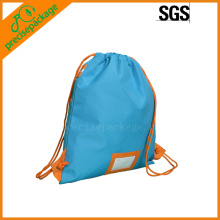promotion eco reusable cotton drawstring backpack bag