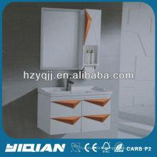 Armoire de rangement de salle de bain étanche à la laque blanche Cabinet de serviette de toilette