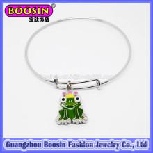 мода серебро Лягушка очарование Браслет ювелирных изделий для детей #31454