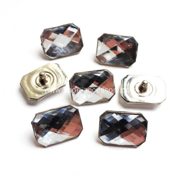 Crystal Rivets with Octagon-Shaped