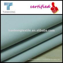 tissu à armure sergé solide coton spandex avec mèche pour pantalon skinny slim