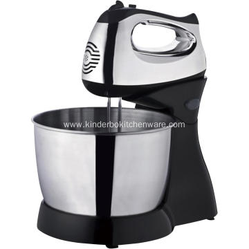Chrome motor housing stand mixer