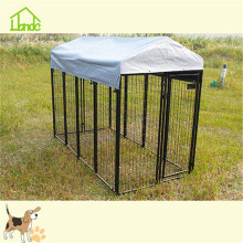 Large outside square tube pet dog kennel cage with UV proof cover