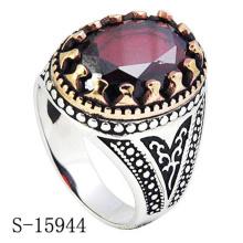 Novo modelo de anel de jóias de prata para homem com zircão
