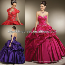 HQ2010 New style fashion deep purple quinceanera dresses