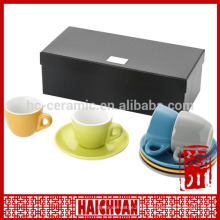 HCC gift packaging tea cup and saucer, jumbo cup and saucer