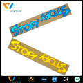 Promotional strong self-adhesive reflective bike sticker wheel decal with lamination for kids
