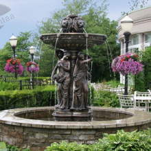 Hot Selling Beautiful Bronze Life Size Four Seasons Ladies Garden Water Fountain