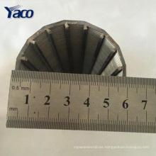 Filtro de arena al por mayor de la pantalla de alambre de la cuña del acero inoxidable de China