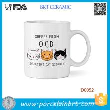 Sufro del desorden obsesivo del gato taza de la taza 11oz