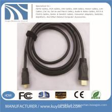 Ouro chapeado micro ao mini cabo HDMI 1.5m