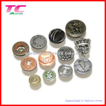 Custom Metal Jeans Button