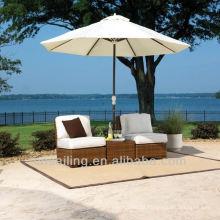 Venda quente Outdoor All Weather cadeira de praia espreguiçadeira mobiliário de exterior