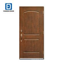 Puerta de panel de fibra de vidrio Fangda de lujo