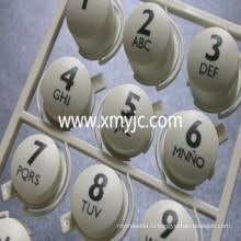 Резиновый кнопочная панель силикона с пластиковой крышкой
